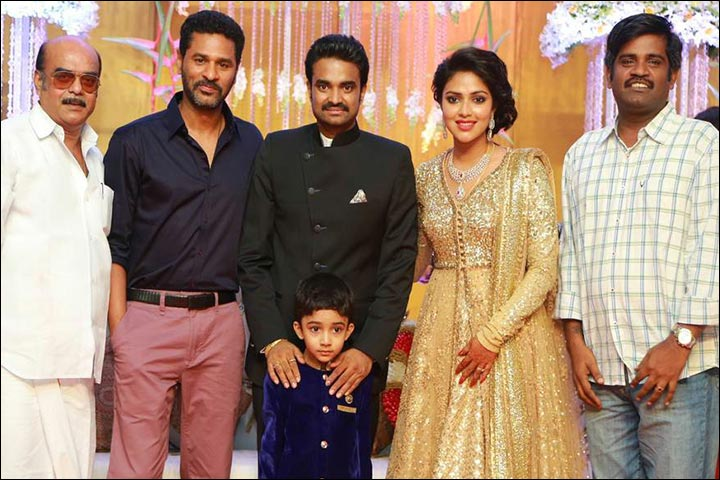 Amala Paul Marriage - Amala And Vijay At Their Reception With Friends And Family