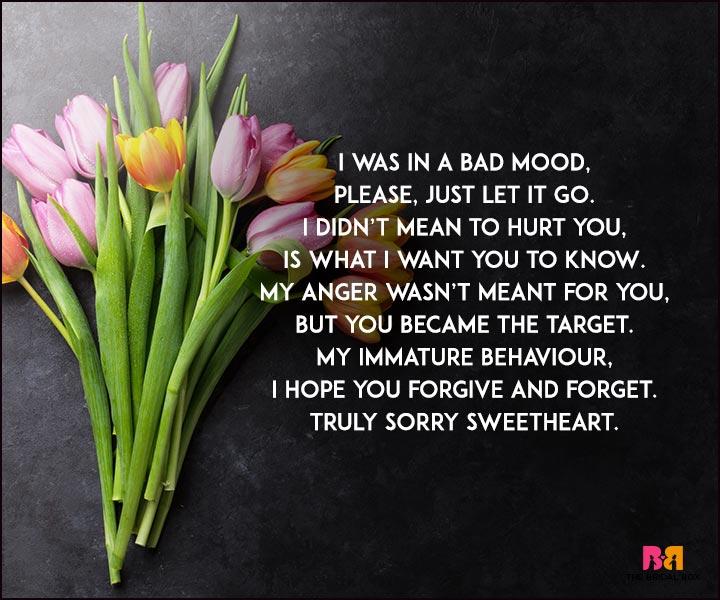 Sorry Love Poems - A Bad Mood