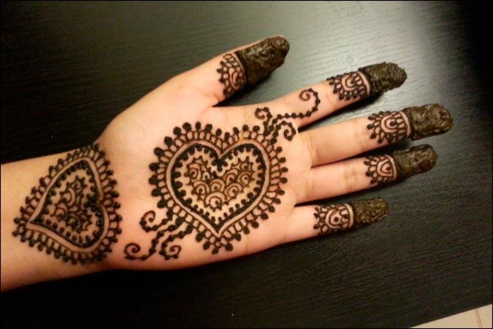 Mehndi Heart Meaning : Heart mehndi designs beautiful and splendid henna works