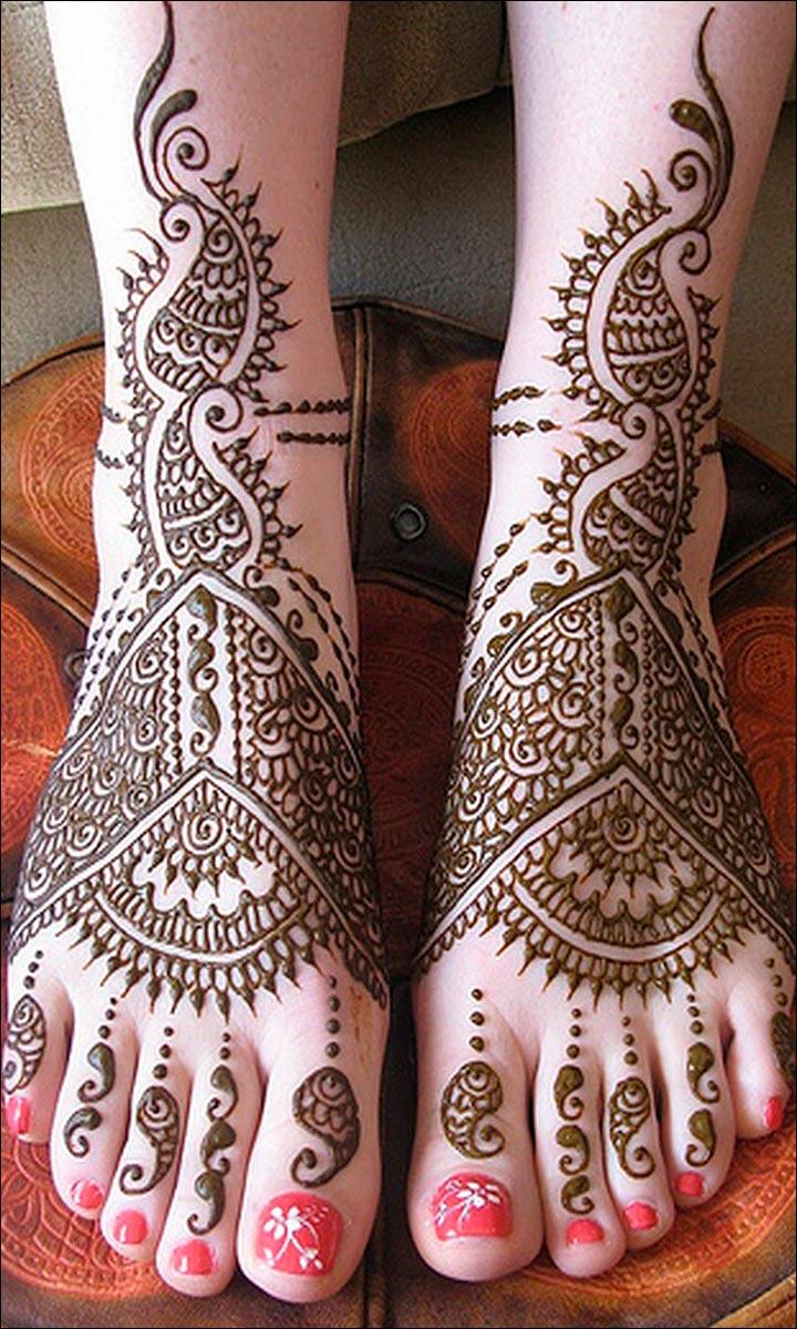 foot mehndi design arabic