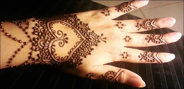 Mehndi Designs Heart : Heart mehndi designs beautiful and splendid henna works